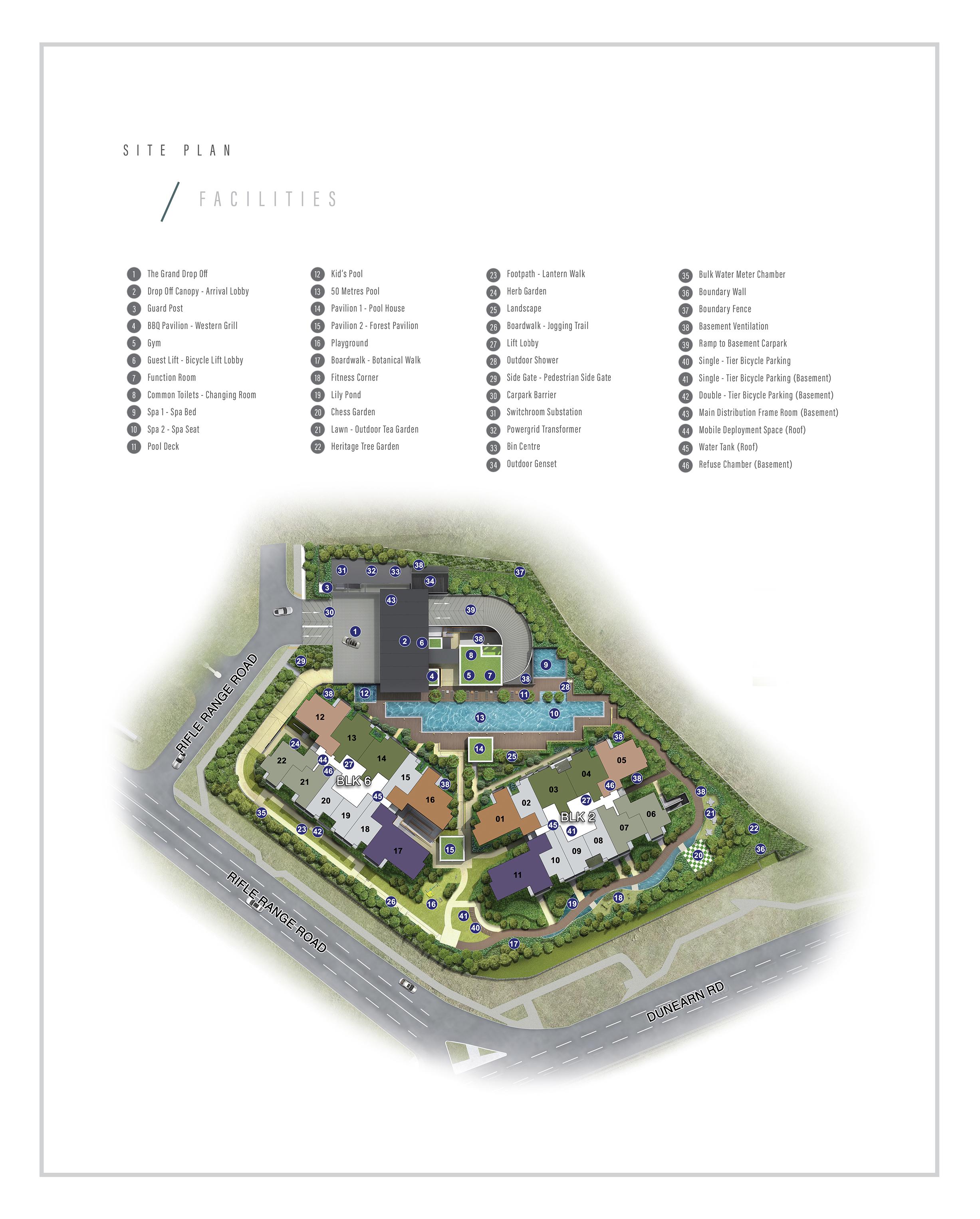 Mayfair Modern Site Plan - Facilities